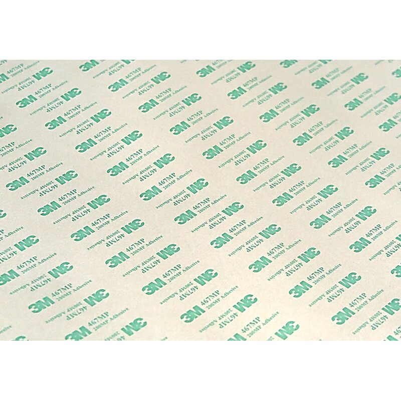 3M 467MP Transfer Adhesive - cut to the appropriate size of the permanent printing plate