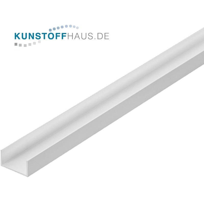 Sehr PVC U-Profil - 10 x 18 x 10 x 1 mm - Weiß, 2,89 € OE18